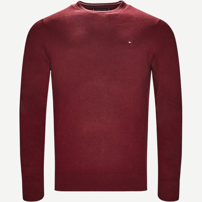 Pima Cotton Cashmere Crew Neck - Strik - Regular - Bordeaux