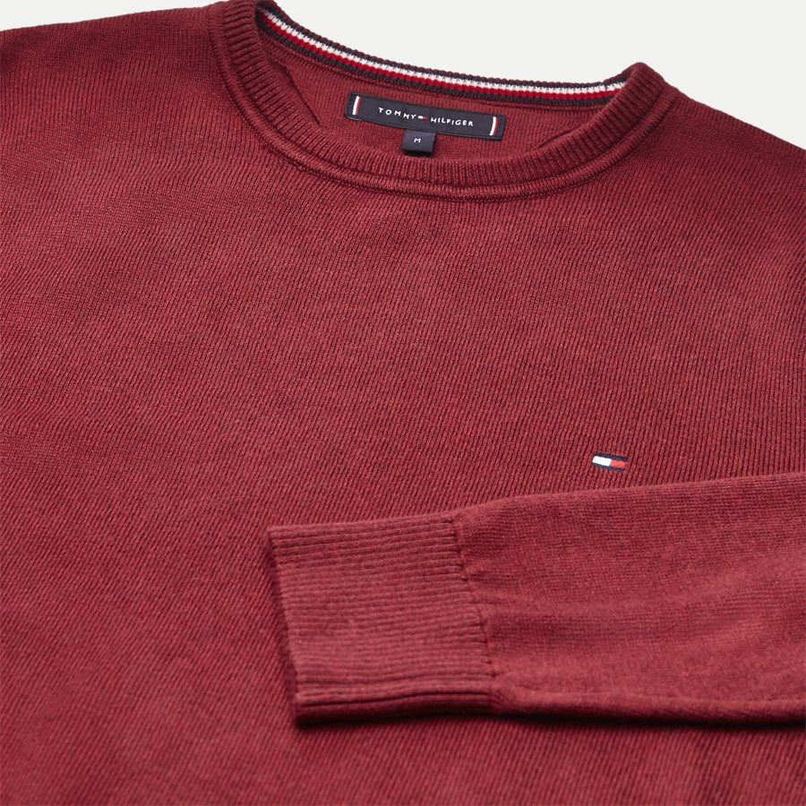 PIMA COTTON CASHMERE CNECK - Pima Cotton Cashmere Crew Neck - Strik - Regular - BORDEAUX - 3