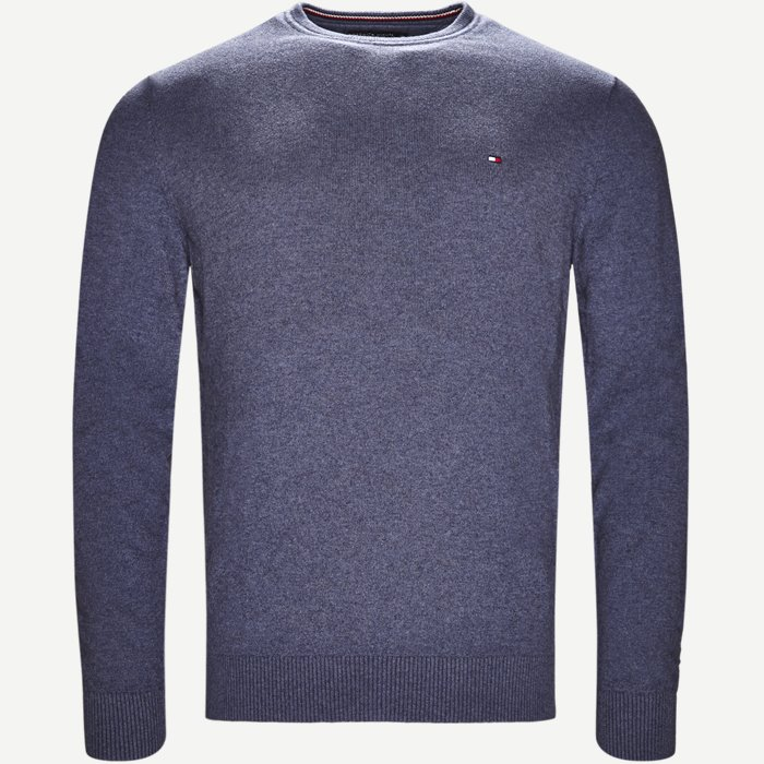 Pima Cotton Cashmere Crew Neck - Strik - Regular - Denim