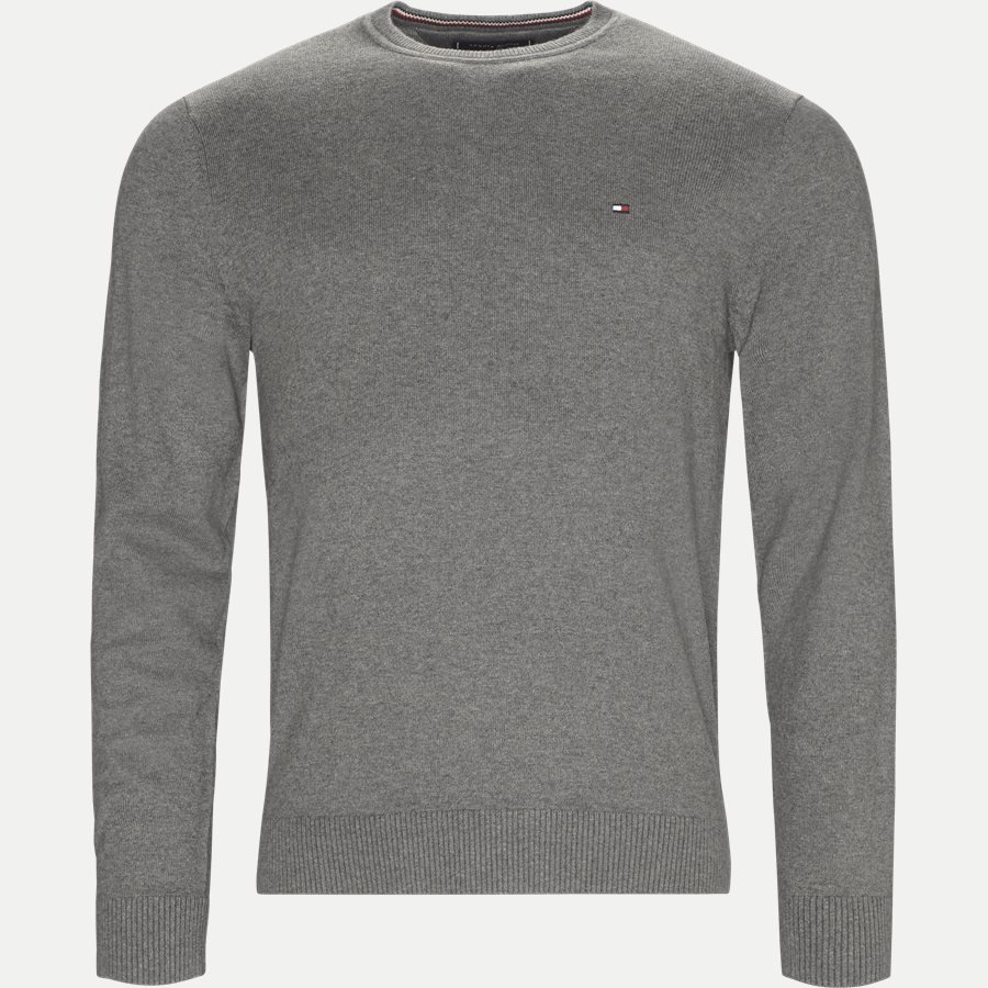 PIMA COTTON CASHMERE CNECK - Pima Cotton Cashmere Crew Neck - Strik - Regular - GRÅ - 1