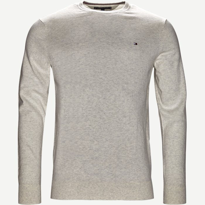 Pima Cotton Cashmere Crew Neck - Strik - Regular - Sand