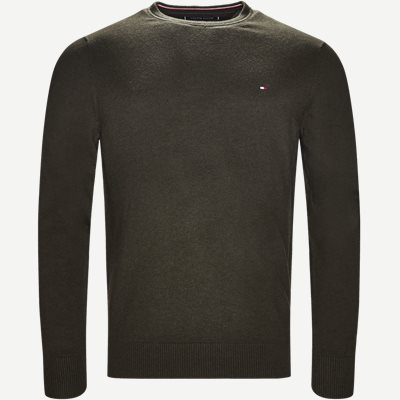 Pima Cotton Cashmere Crew Neck Regular | Pima Cotton Cashmere Crew Neck | Army