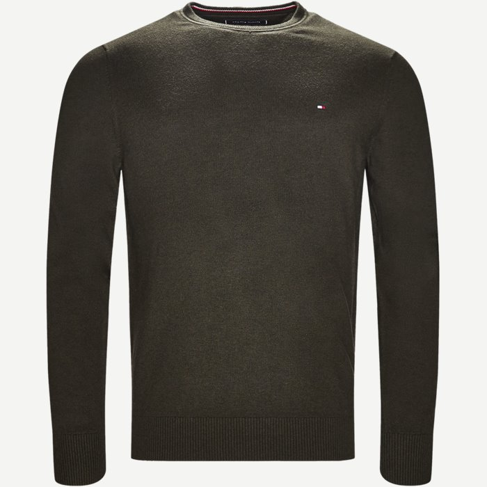 Pima Cotton Cashmere Crew Neck - Strik - Regular - Army