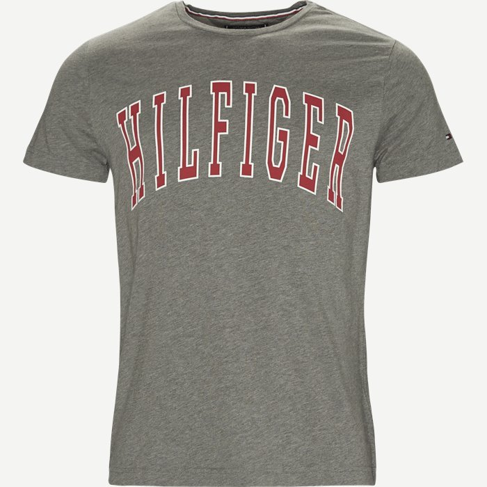 College Logo Tee - T-shirts - Regular - Grå