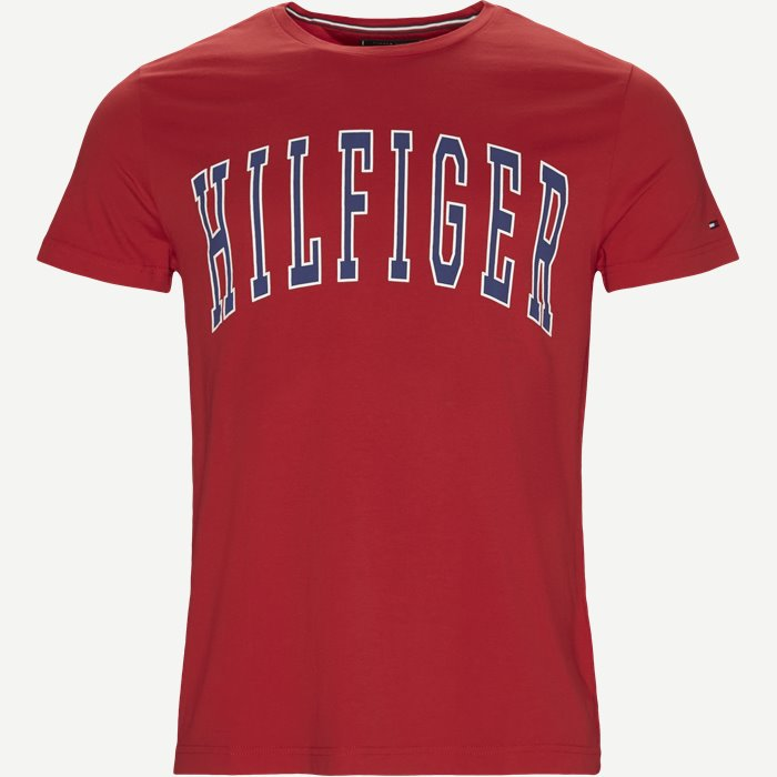 College Logo Tee - T-shirts - Regular - Rød
