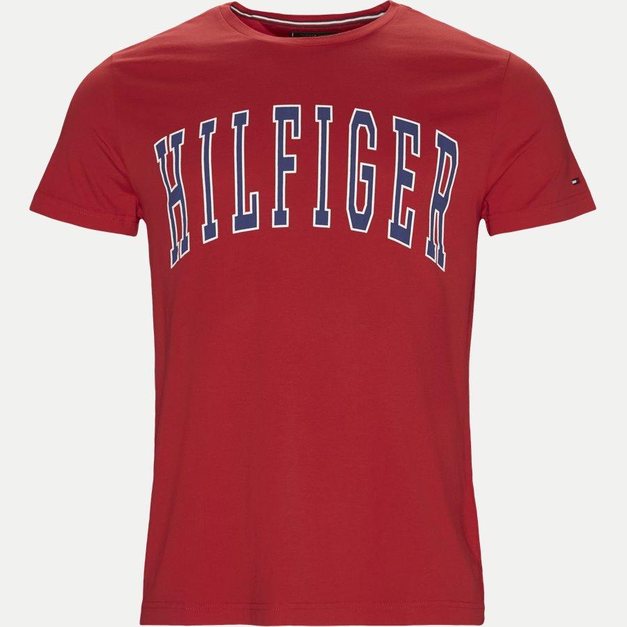 COLLEGE LOGO TEE - College Logo Tee - T-shirts - Regular - RØD - 1