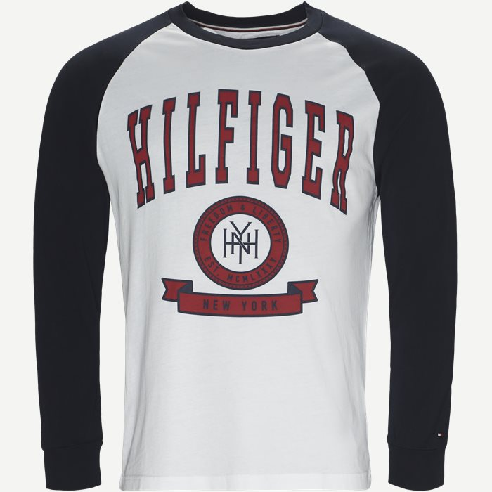 Contrast Raglan Long Sleeve Tee - T-shirts - Regular - Blå