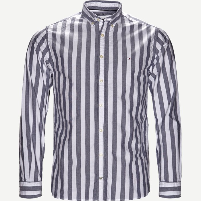 Engeneered Striped Oxford Shirt - Skjorter - Blå