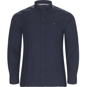 Heather Herringbone Shirt Regular | Heather Herringbone Shirt | Blå