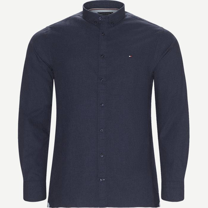 Heather Herringbone Shirt - Skjorter - Regular - Blå