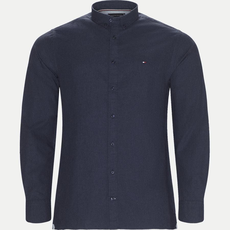 HEATHER HERRINGBONE SHIRT - Heather Herringbone Shirt - Skjorter - Regular - NAVY - 1