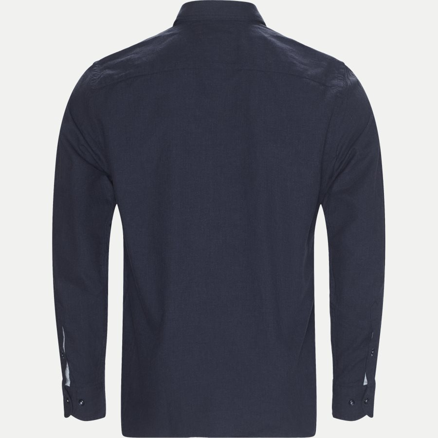 HEATHER HERRINGBONE SHIRT - Heather Herringbone Shirt - Skjorter - Regular - NAVY - 2