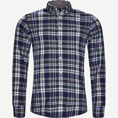Multicolor Check Shirt Slim | Multicolor Check Shirt | Blå