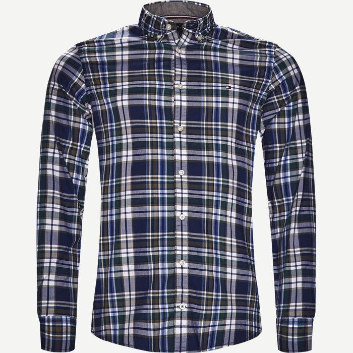 Multicolor Check Shirt - Skjorter - Slim - Blå