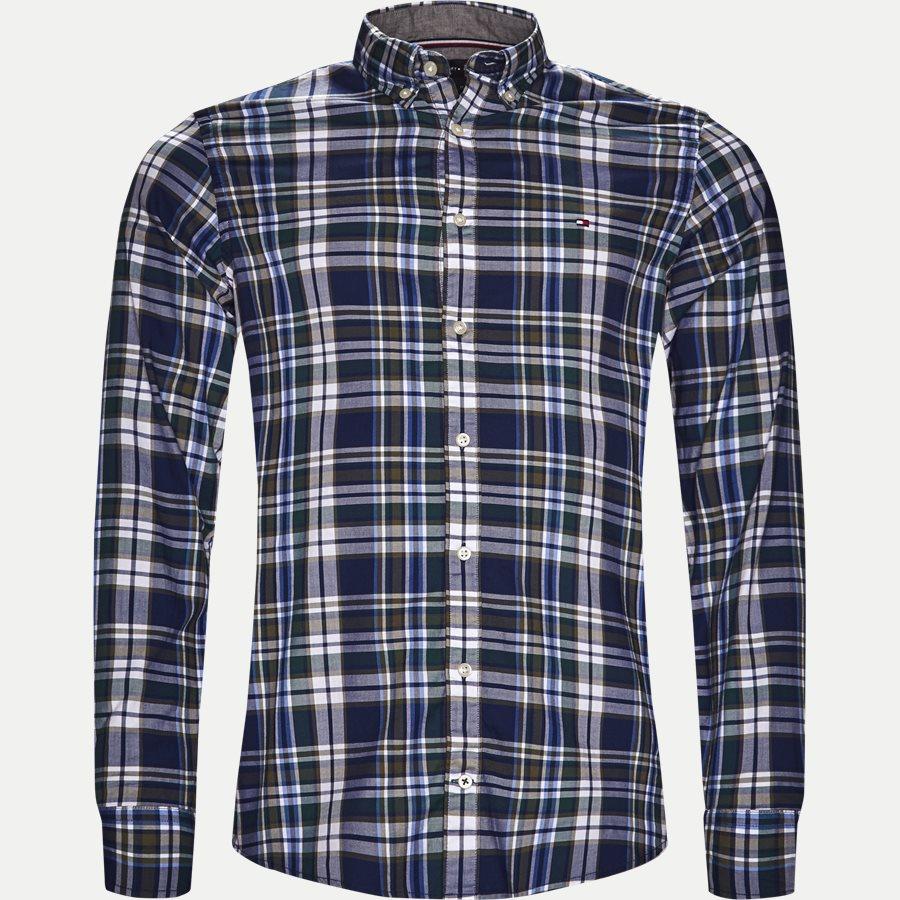 SLIM MUTICOLOR CHECK SHIRT - Multicolor Check Shirt - Skjorter - Slim - BLÅ - 1