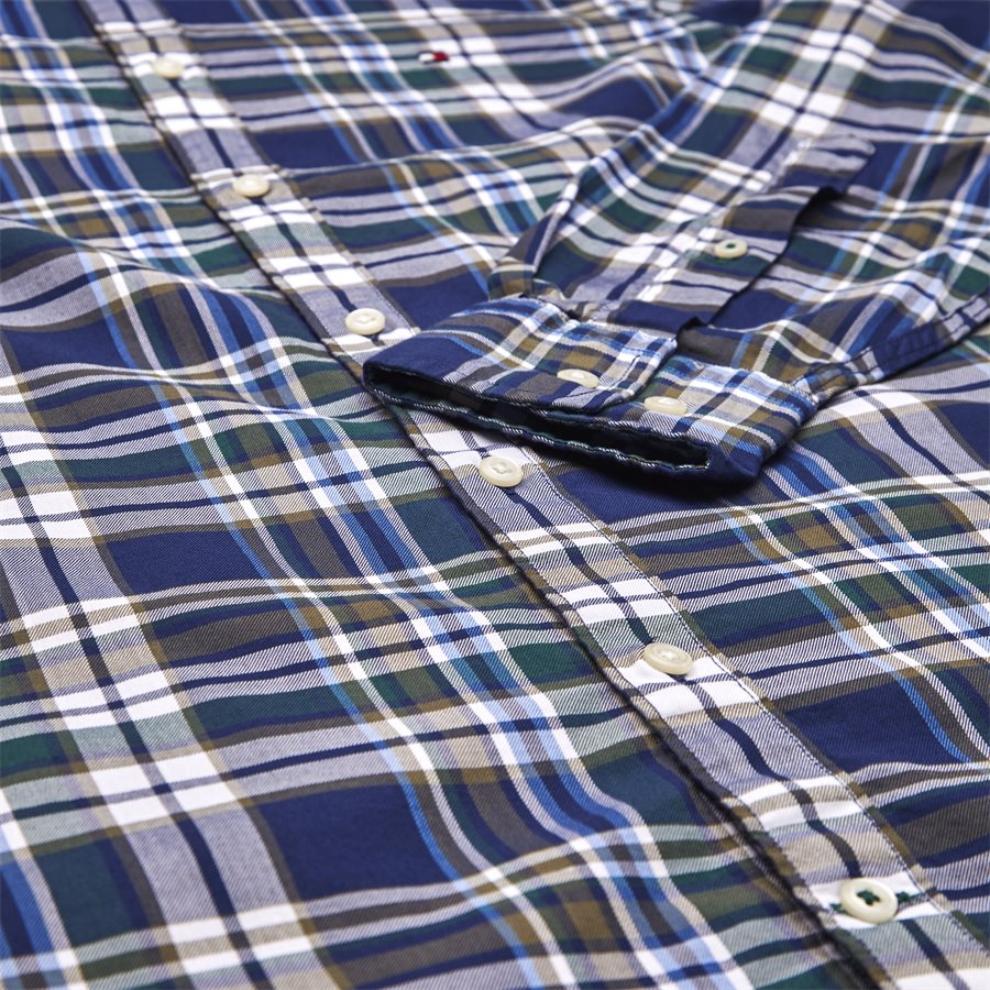 SLIM MUTICOLOR CHECK SHIRT - Multicolor Check Shirt - Skjorter - Slim - BLÅ - 4