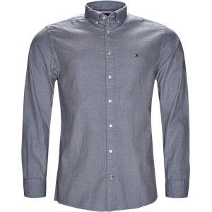 Heather Dot Print Shirt Regular | Heather Dot Print Shirt | Blå
