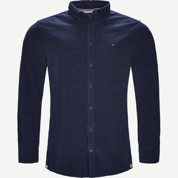 Heather Corduroy Shirt - Skjorter - Regular - Blå