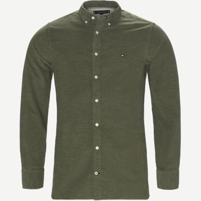 Heather Corduroy Shirt Regular | Heather Corduroy Shirt | Army