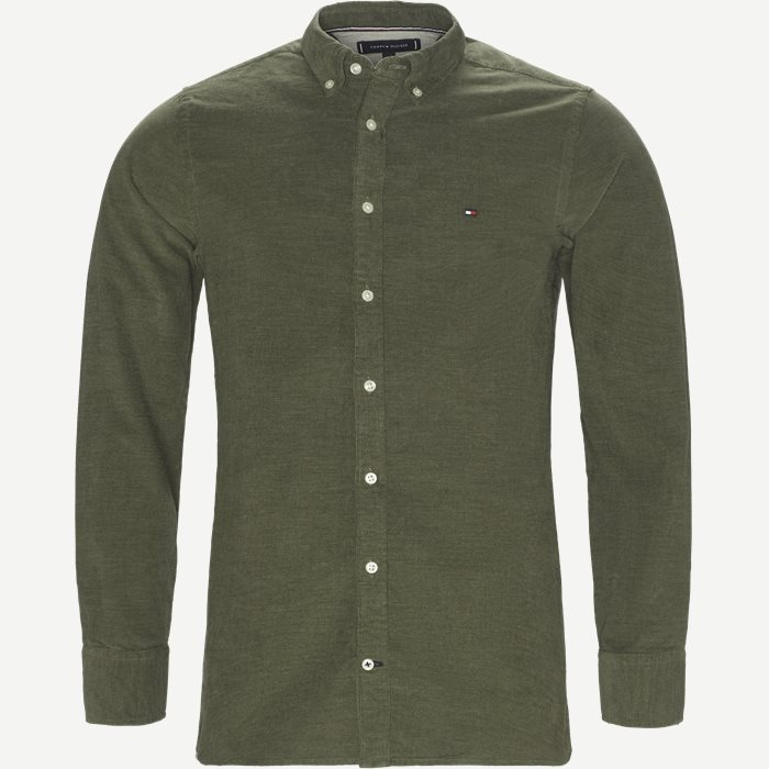 Heather Corduroy Shirt - Skjorter - Regular - Army