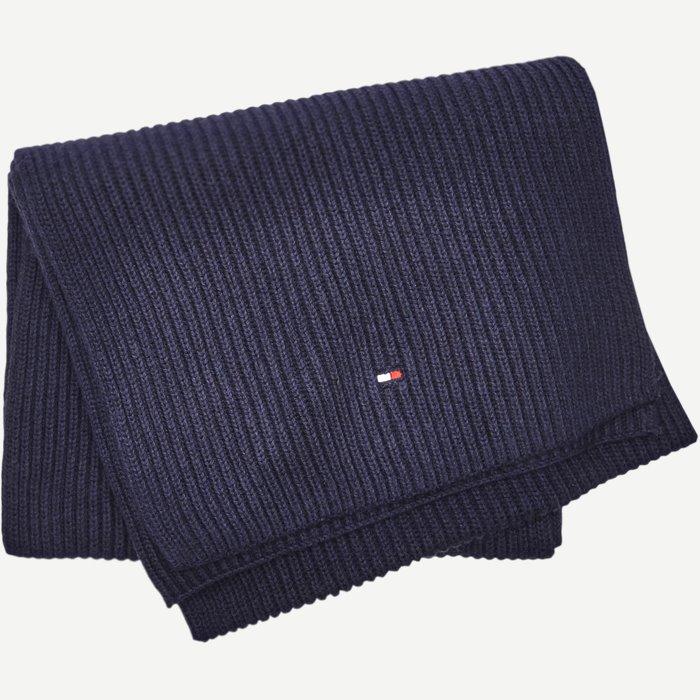 Cotton Cashmere Scarf - Tørklæder - Blå