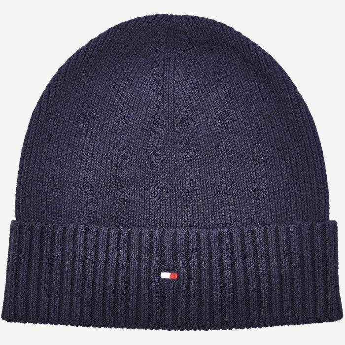 Cotton Cashmere Beanie - Caps - Regular - Blå