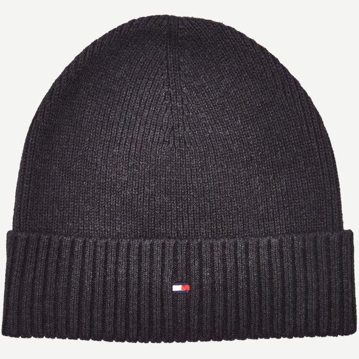 Cotton Cashmere Beanie - Caps - Regular - Sort