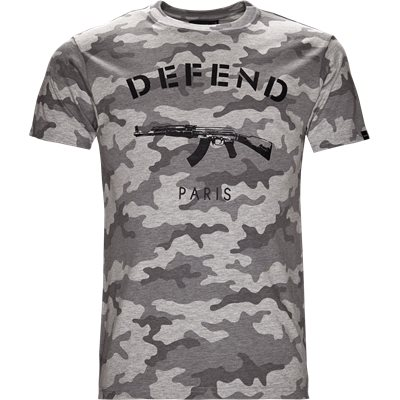 Paris Tee Camo Regular | Paris Tee Camo | Grå