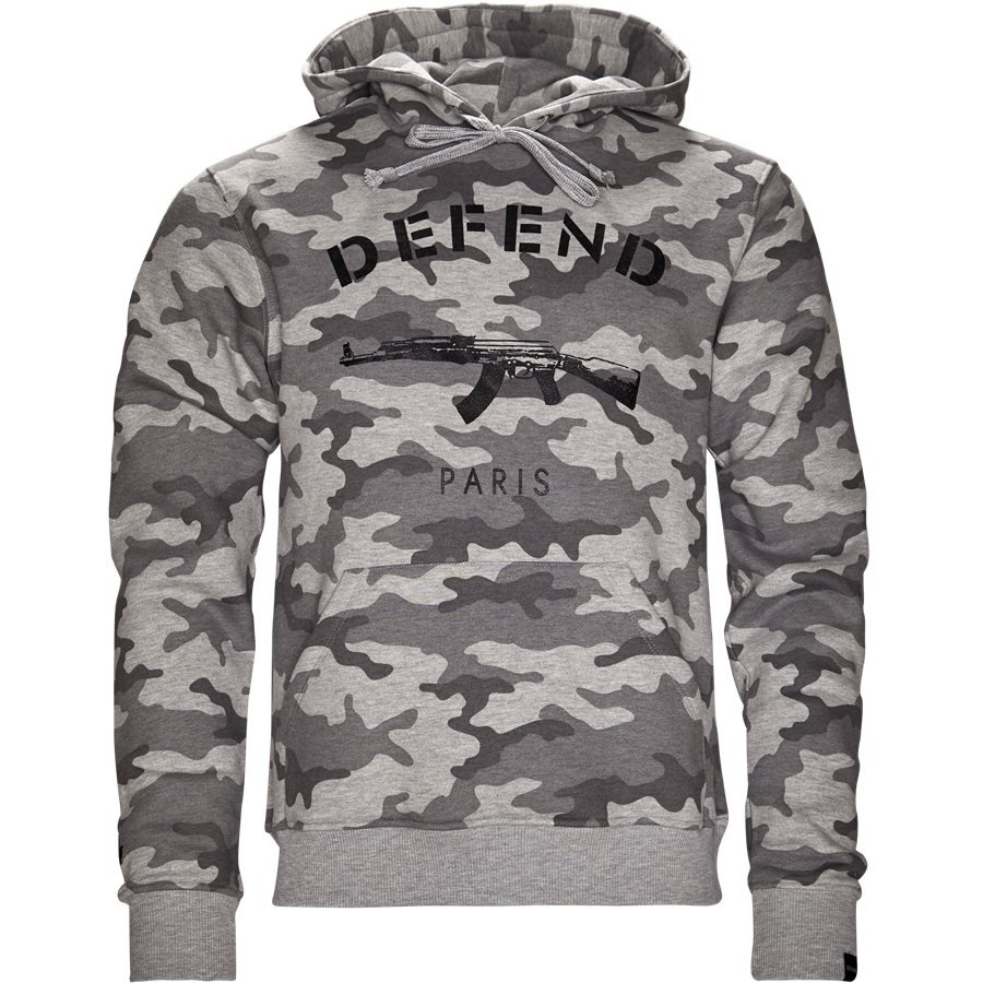 PARIS HOOD CAMO GREY - Paris Hood Camo - Sweatshirts - Regular - GRÅ - 1