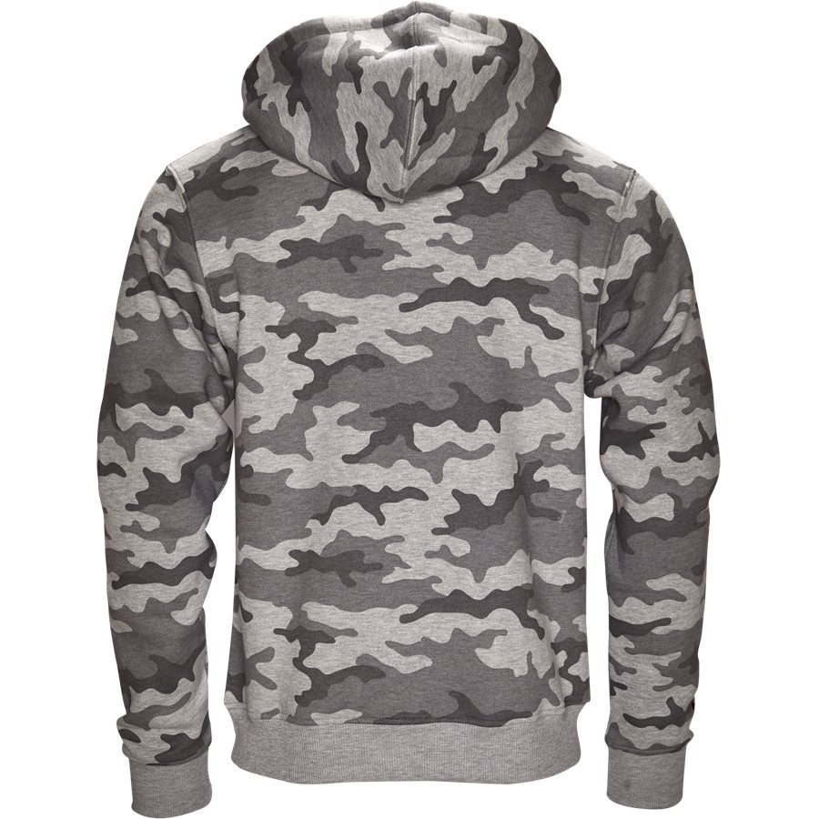 PARIS HOOD CAMO GREY - Paris Hood Camo - Sweatshirts - Regular - GRÅ - 2
