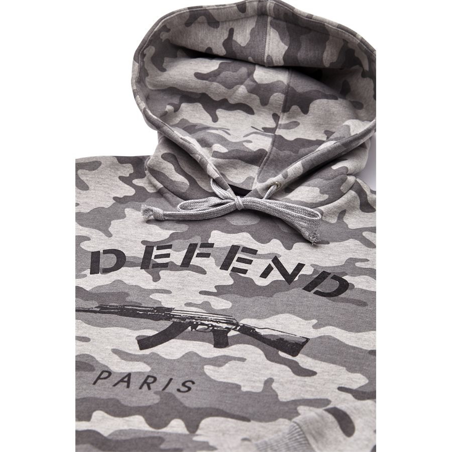 PARIS HOOD CAMO GREY - Paris Hood Camo - Sweatshirts - Regular - GRÅ - 3