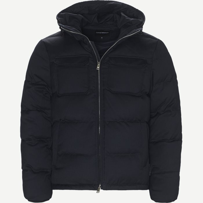 Wool Down Jacket - Jakker - Regular - Blå