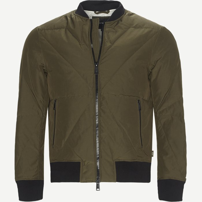 Down Bomber Jacket - Jakker - Regular - Army
