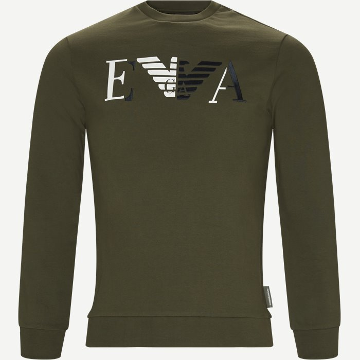 Crew Neck Sweatshirt - Sweatshirts - Regular - Grøn