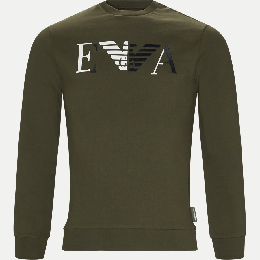 6Z1MB3 1J07Z - Crew Neck Sweatshirt - Sweatshirts - Regular - GRØN - 1
