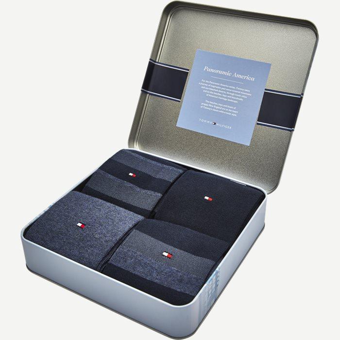4-Pack Gift Box Socks - Strømper - Blå