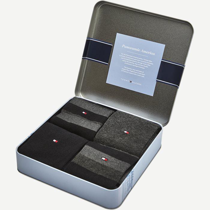4-Pack Gift Box Socks - Strømper - Sort