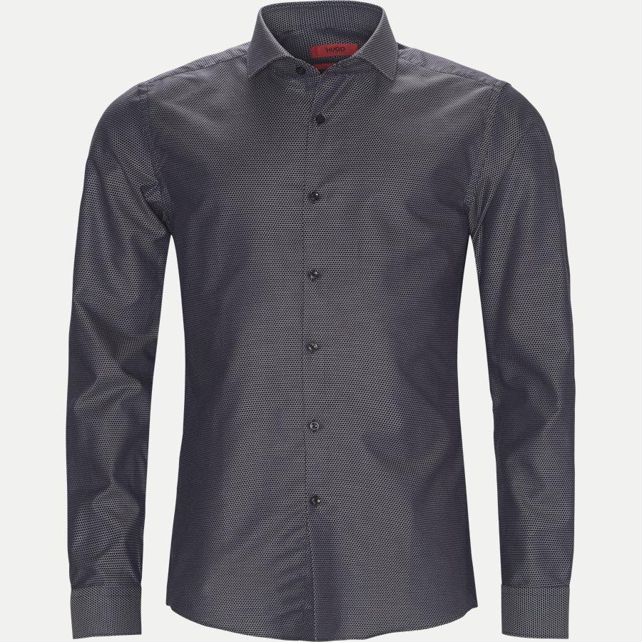 50391679 KASON - Kason Skjorte - Skjorter - Slim - NAVY - 1