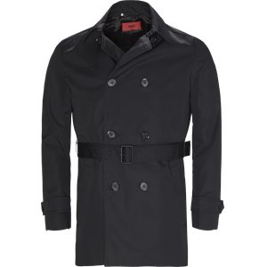 Maluks Trenchcoat Slim | Maluks Trenchcoat | Sort