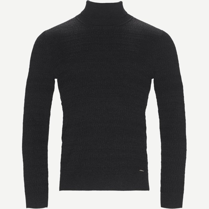 Smaxin Turtleneck Sweater - Strik - Ekstra slim fit - Grå