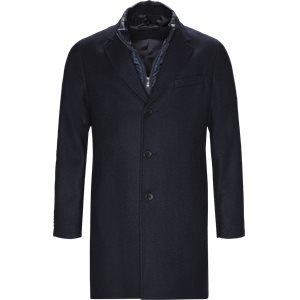 Nadim4 Wool Coat Slim | Nadim4 Wool Coat | Blå