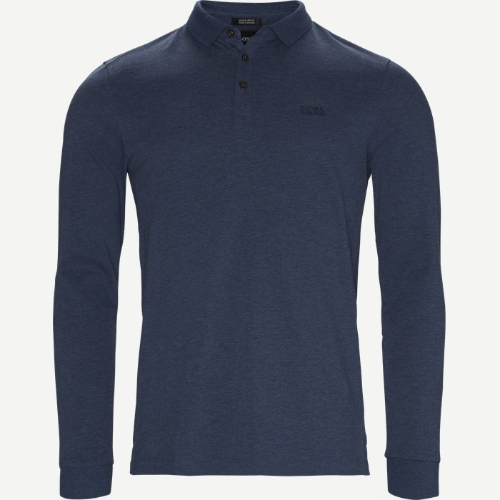 Pado10 Langærmet Polo - T-shirts - Regular - Denim
