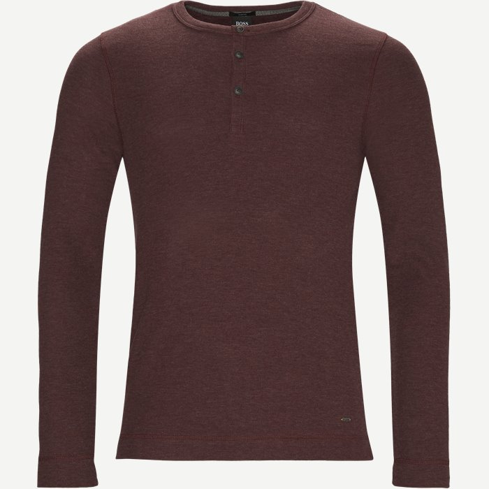 Trix Langærmet T-shirt - T-shirts - Slim - Bordeaux