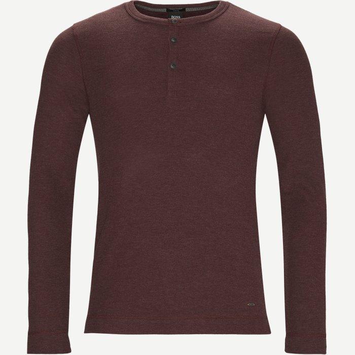T-Shirts - Slim - Weinrot