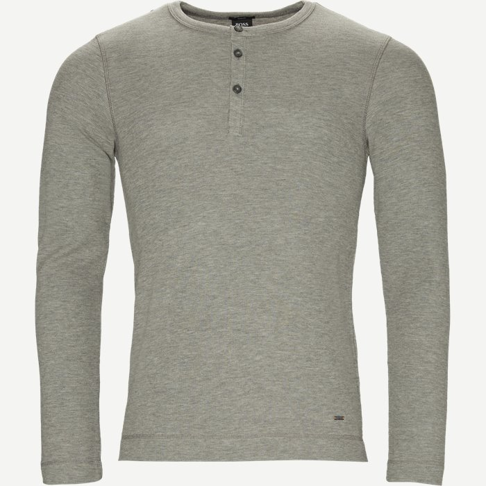 Trix Langærmet T-shirt - T-shirts - Slim - Grå