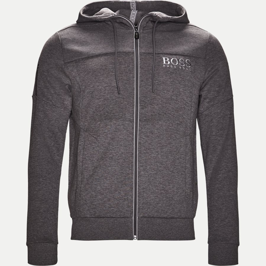 50387166 SAGGY - Saggy Hoodie Zip Sweatshirt - Sweatshirts - Regular - GRÅ - 1
