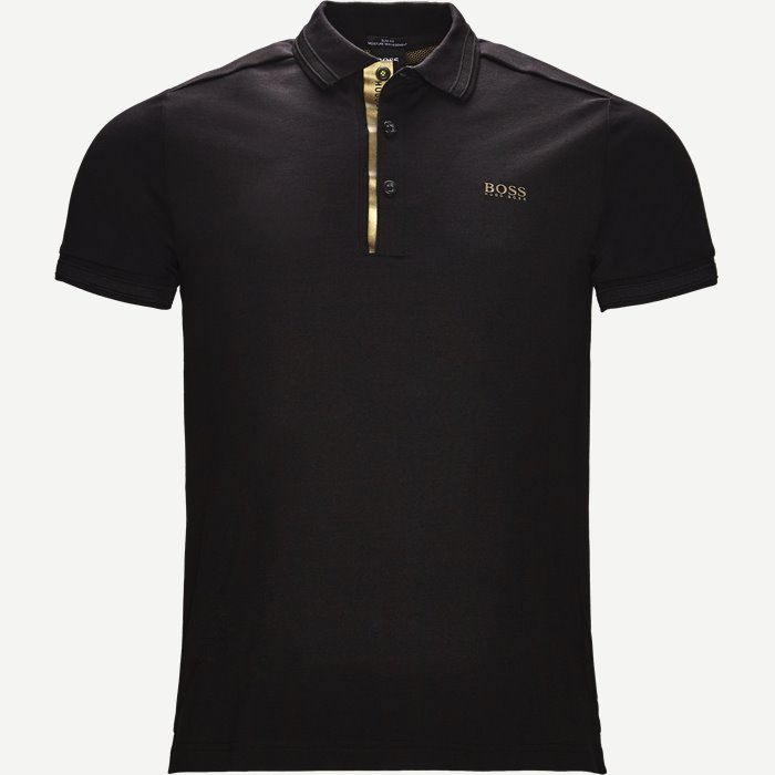 Paddy Gold Polo - T-shirts - Slim - Sort