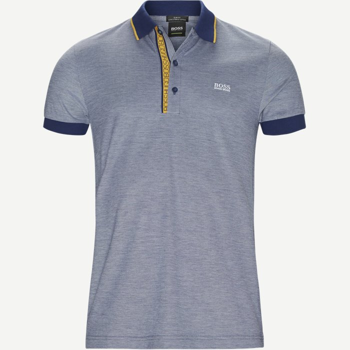 Paule4 Polo - T-shirts - Slim - Blå
