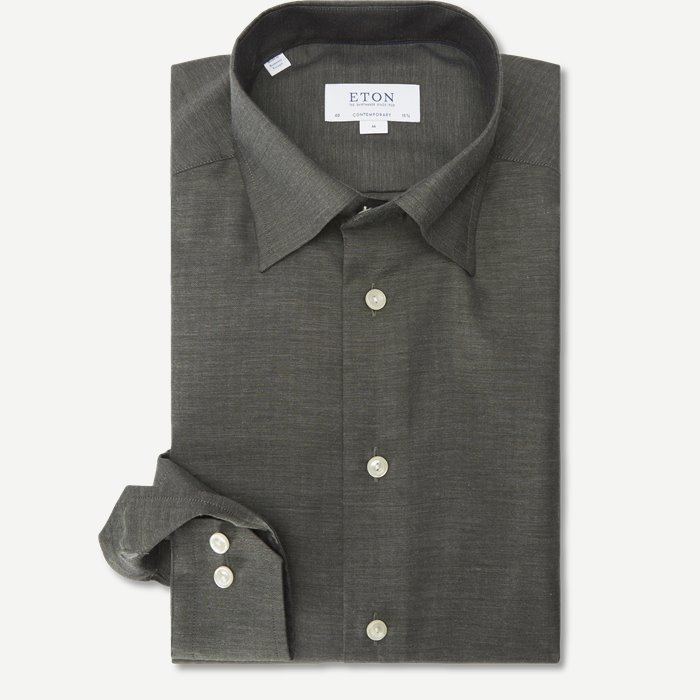 Fine Twill Skjorte - Skjorter - Grøn