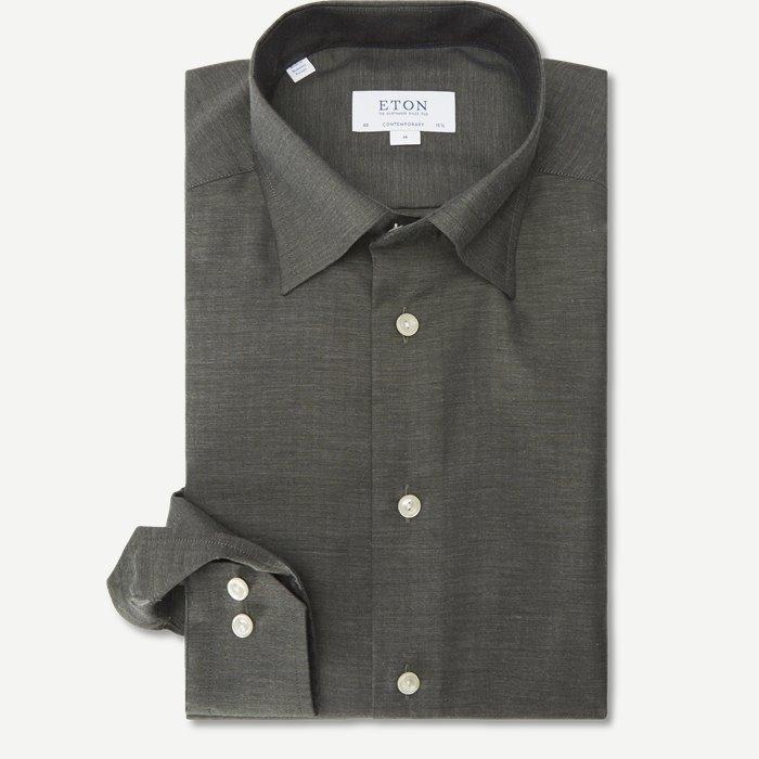 3991 Fine Twill Skjorte - Skjorter - Grøn